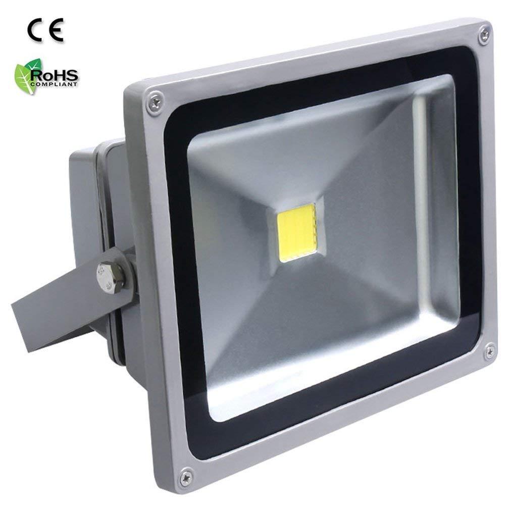 Auralum Projecteur LED 50W IP65 Super brilliant /Éclaraige Ext/érieur et Int/érieur 230V Waterproof LED Projecteur de lumi/ère dinondation Coque Gris Blanc Froid 6000-6500K
