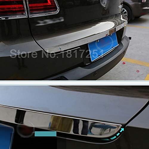 Exterior Parts For Vw Tiguan 2010 2016 Door Sticker Stainless Steel Back Door Tailgate Trim Car Styling Accessories