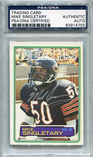 Mike Singletary Rookie Chicago Bears PSA/DNA Certified Authentic Autograph - 1983 Topps (Autographed Football Cards) ()