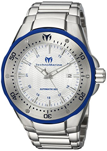 Technomarine Sport Wrist Watch - Technomarine Men's 'Manta' Automatic Stainless Steel Casual Watch, Color:Silver-Toned (Model: TM-215092)