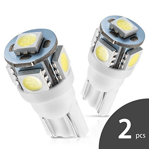 Marsauto 194 168 T10 2825 5SMD LED Bulbs Car Dome Map License Plate Lights Lamp White 12V (Pack of 2) - Cole Signature Cord