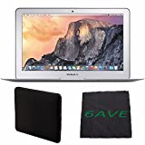 "Apple 11.6"" MacBook Air MJVM2LL/A Notebook Computer + Padded Case For Macbook + MicroFiber Cloth Bundle"