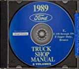 1989 FORD VAN, ECONOLINE & PICKUP FACTORY REPAIR SHOP & SERVICE MANUAL CD INCLUDES F100, F-150, F-250, F-350, F-Super Duty, BRONCO, E-100, E-150, E-250, E-350. 89