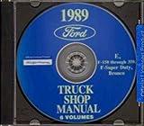 ford econoline manual - 1989 FORD VAN, ECONOLINE & PICKUP FACTORY REPAIR SHOP & SERVICE MANUAL CD INCLUDES F100, F-150, F-250, F-350, F-Super Duty, BRONCO, E-100, E-150, E-250, E-350. 89