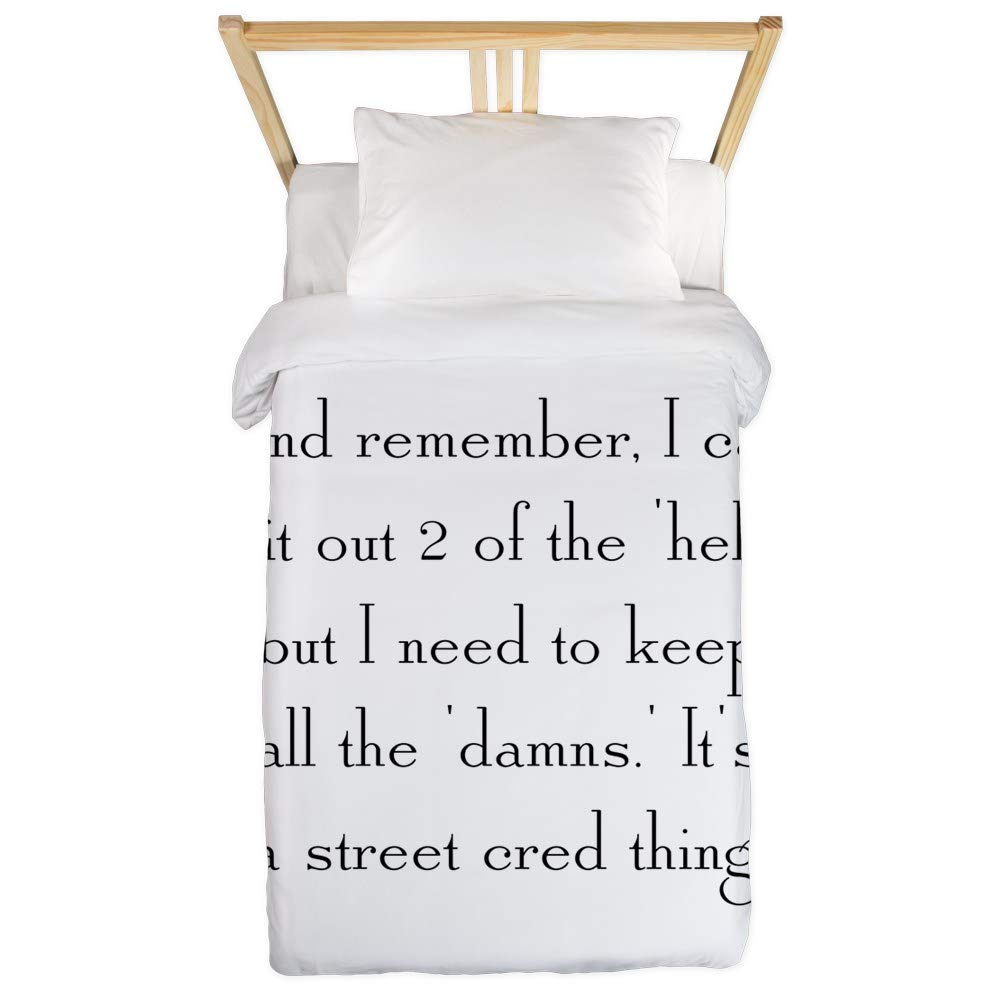 CafePress Street Cred Thing Twin Duvet Twin Duvet Cover, Printed Comforter Cover, Unique Bedding, Microfiber