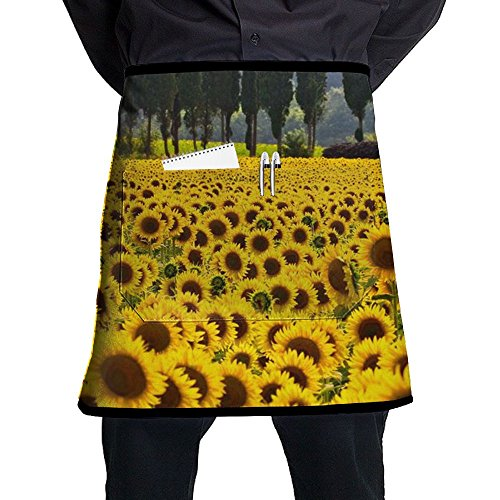 Female Queen Elizabeth 1 Costume (Sunflower Field Floral Bloom Cooking Aprons Professional Bib Apron For Women Men Girl Kids Gifts Kitchen Decorations With Pocket)