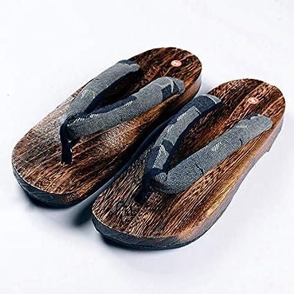 Amazoncom Wooden Sole Men Flip Flops Summer Man Sandals Slippers