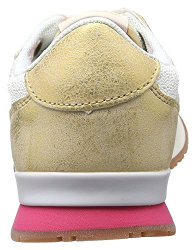 ddba449d6373 Pepe Jeans London Damen Gable New Caviar Sneakers Weiß White - liv ...