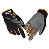 Ultimate Frisbee Gloves CFTech Ice Silk Breathable Gloves Non-slip - Ultimate Grip and Friction to Enhance Your Game! Also for Riding Fitness Training Mountaineering Outdoor Sports (B-Orange, M)
