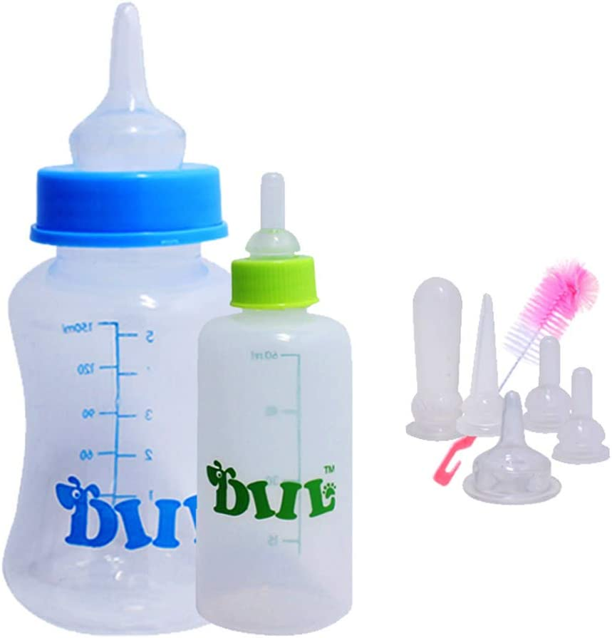 OMEM - Botella de Lactancia de Repuesto para pezones recién Nacidos, Gatitos, Cachorros, Animales pequeños, 60 ml/120 ml