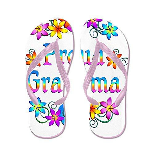 Cafepress Trotse Oma Bloemen Flip Flops - Flip Flops, Grappige Thong Sandalen, Strand Sandalen Roze