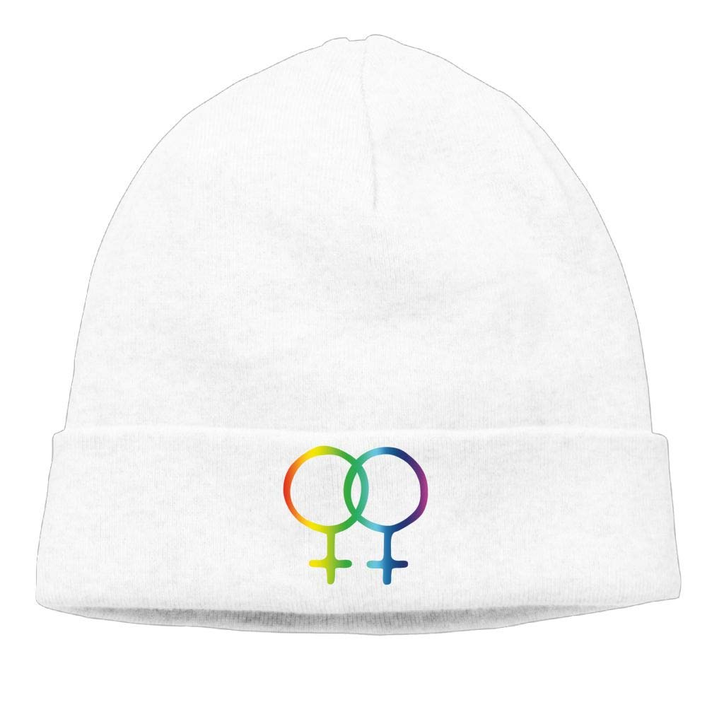 Riokk Az Skull Hats Beanie Knit Caps for Men Women Symbols Lesbian LGBT Pride