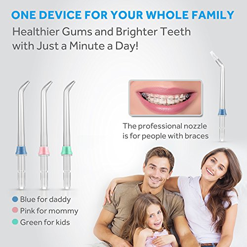 Lavany Water Flosser Cordless Oral Irrigator Professional Rechargeable Portable Dental Water Jet With 4 Jet Tips For Braces and Teeth Whitening,Travel and Home Use by Lavany (Image #2)