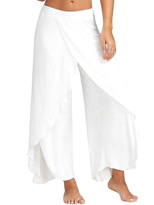Swallowuk - Pantalones elásticos para mujer, tipo bombachos ...