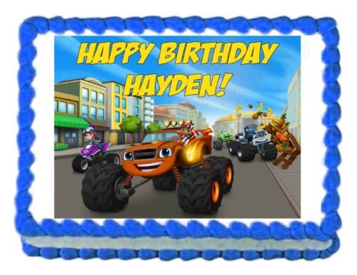 BLAZE AND THE MONSTER MACHINES edible cake topper decoration frosting sheet (Cake Ideas For Dads Birthday)
