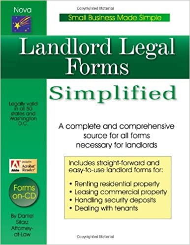 Landlord Legal Forms Small Business Made Simple Series Daniel - Simple legal forms