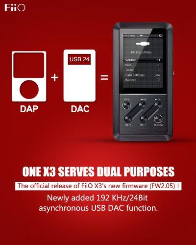 Fiio X3 Mastering Quality Music Player w/ Wolfson DAC WM8740