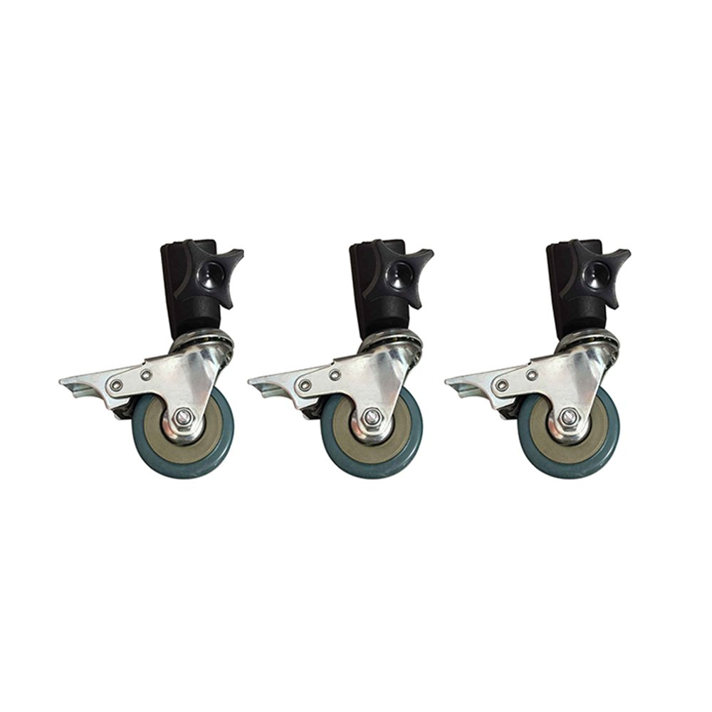 3pcs/Set Photo Studio Heavy Duty Universal Caster Wheel for Tripod Light Stands&Photography Studio