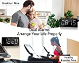 Loud LED Digital Alarm Clocks for Bedrooms Bedside