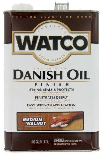 Danish Walnut Finish (Watco 242222 Medium Walnut Danish, 1 gallon, Oil Finish by Watco)