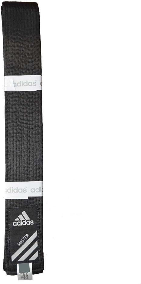 importar voluntario Preludio  adidas - Cinturón negro de seda sintética Talla:320: Amazon.es: Deportes y  aire libre