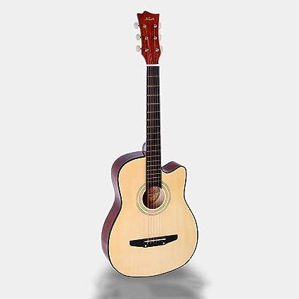 Miiliedy Hermosa 40/41 pulgadas Guitarra acústica Masculino Femenino Autoestudio Estudiantes Principiantes Practica guitarra de madera con estuche para guitarra Correa de hombro Conjunto de cuerdas: Amazon.es: Instrumentos musicales