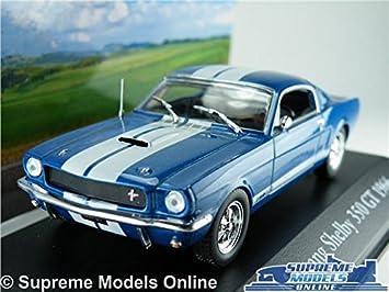 Ford Mustang Shelby 350 Gt Car Model 1 43 Size Blue Ixo Atlas 474a6