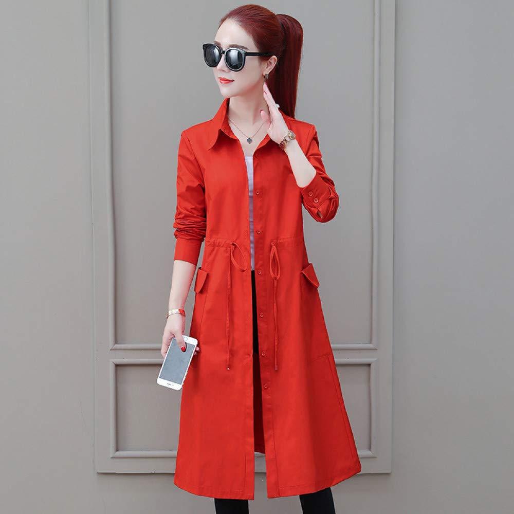 SUIFENG@ Frauen Trenchcoat Khaki Windbreaker Weiblichen Langen Abschnitt Koreanische Version des Frühlings und Herbst Dünne Taille Temperament Dünnen Abschnitt Herbst Mantel