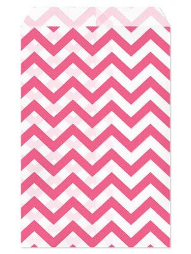 set-of-100-size-5x7-pink-chevron-paper-bags-by-my-craft-supplies