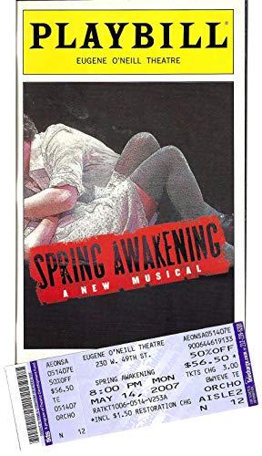 "Lea Michele""SPRING AWAKENING"" John Gallagher, Jr. / Jonathan Groff 2007 Broadway Playbill and Ticket"