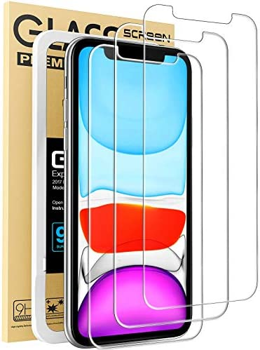 Mkeke Compatible with iPhone XR Screen Protector, IPhone 11 Screen protector,Tempered Glass Film for Apple iPhone XR and iPhone 11, 3-Pack Clear