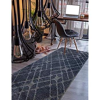 Amazon Com Custom Size Hallway Runner Rug Trellis Grey