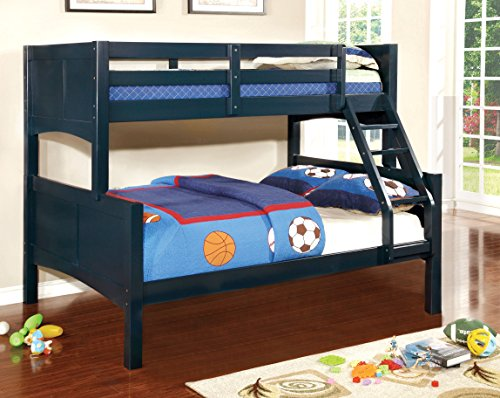 wooden bunkbeds twin over full - 2