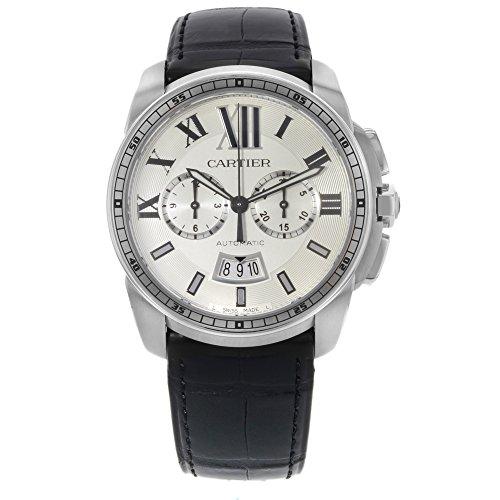Cartier Calibre de Cartier 42mm Silver Dial Steel Automatic Men's Watch W7100046 (Certified Pre-Owned)