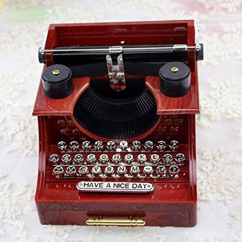 Rcdxing Decoración del hogar Joyero Retro Creativo de la Caja de Música del Diseño de la Máquina de Escribir para Regalo de Niño: Amazon.es: Hogar