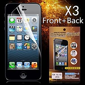 Protective HD Front + Back Screen Protector for iPhone 5/5S(3PCS)