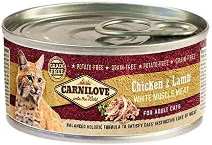 Carnilove - Comida Humeda Para Gato con Pollo y cordero, 100 g, 1 unidad