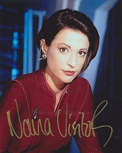 NANA VISITOR as Major Kira Nerys - Star Trek: Deep Space Nine GENUINE AUTOGRAPH