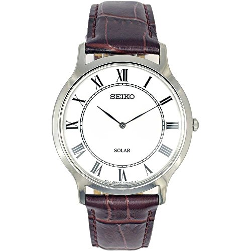 Seiko Watches Men's Quartz Stainless Steel Pocket Watch, Color:White (Model: SUP869P1) by Seiko