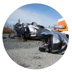 alfombrilla de ratón accidente de moto - ronda - 20cm