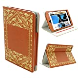 KHOMO ® Brown Book Style Leather Case with Built-in Stand for Apple iPad Mini 7.9 Inch