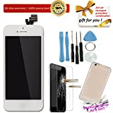 YST Replacement LCD for iPhone 5 5g in White , LCD for Apple with Broken / Cracked Screen / Panel / Display in AAA with Case / Repair Tool Kit / HD Tempered Glass
