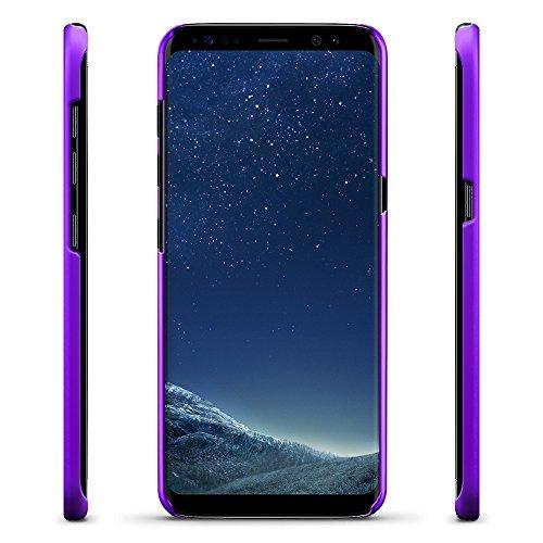 SLEO Funda para Samsung Galaxy S8 PC Back Cover de Parachoques Duro Cubierta Protectora para Samsung Galaxy S8 - Rojo Púrpura