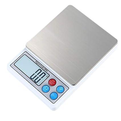 DPPAN Mini Electrónica Balanza de Alimentos, Alta Precisión Acero Inoxidable Digital Báscula de Cocina Peso