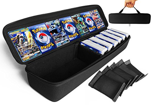 - FitSand (TM) Pokemon Cards Case, Travel Zipper Carry EVA Hard Case Best Protection for Pokemon Trading Cards(with Cards) (Fit 1000 Cards)