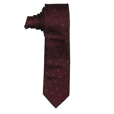 design élégant profiter du prix de liquidation beau Alfani homme fin en soie Mélange Irving Dot Cravate Vin ...