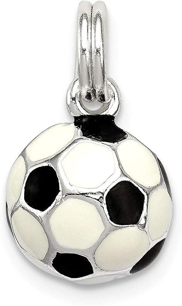 Abalorio de pelota de fútbol esmaltada en color negro y blanco ...