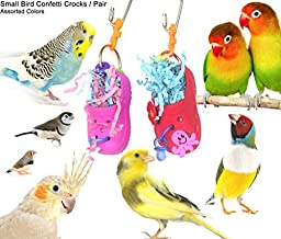 Small Bird Confetti Foraging Crocks - 2 in a pack - Made in the USA (ASSORTED COLORS)