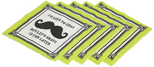 Mustache Moustache Party Office Napkins, 30 Count