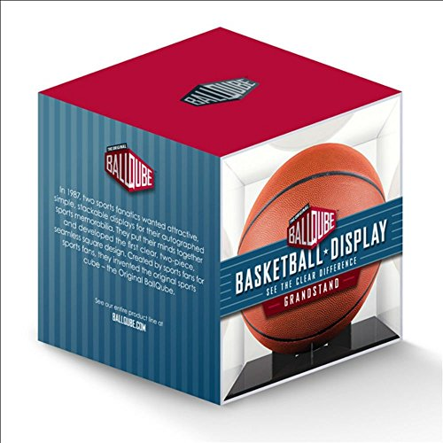 E BallQube Grandstand Basketball Display (Glass Chipboard)